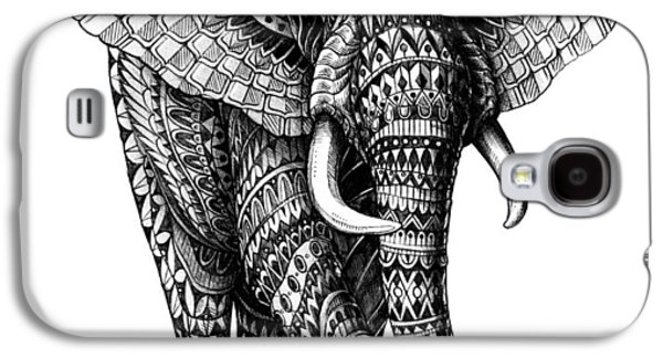 Native Drawings Galaxy S4 Cases - Ornate Elephant v.2 Galaxy S4 Case by BioWorkZ