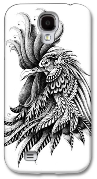 Native Drawings Galaxy S4 Cases - Ornate Rooster Galaxy S4 Case by BioWorkZ