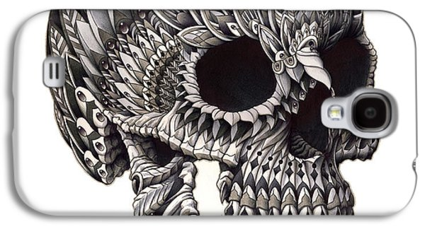 Tattoo Galaxy S4 Cases - Ornate Skull Galaxy S4 Case by BioWorkZ