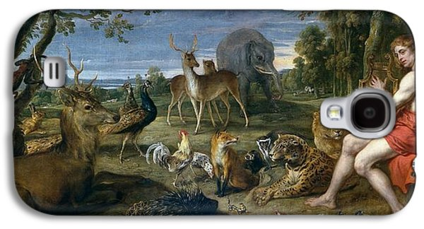 1636 Paintings Galaxy S4 Cases - Orpheus and animals Galaxy S4 Case by Frans Snyders