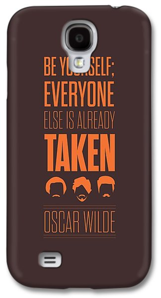 Modern Digital Art Galaxy S4 Cases - Oscar Wilde quote typographic art print Galaxy S4 Case by Lab No 4 - The Quotography Department