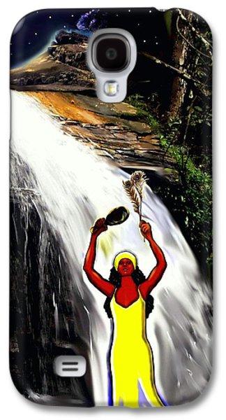 Spiritual Portrait Of Woman Digital Art Galaxy S4 Cases - Oshun -Goddess of Love-2 Galaxy S4 Case by Carmen Cordova