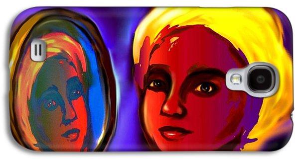 Spiritual Portrait Of Woman Digital Art Galaxy S4 Cases - Oshun -Goddess of Love Galaxy S4 Case by Carmen Cordova