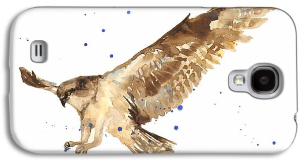 Osprey Painting Galaxy S4 Case by Alison Fennell
