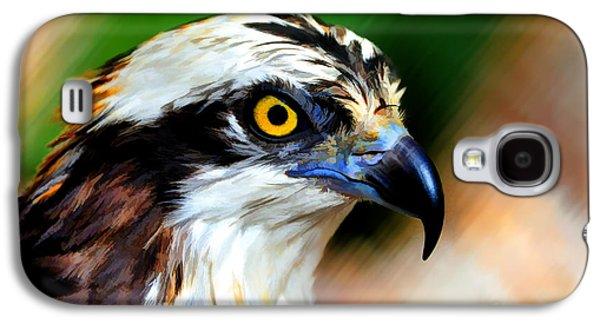 Dan Friend Galaxy S4 Cases - Osprey portrait Galaxy S4 Case by Dan Friend