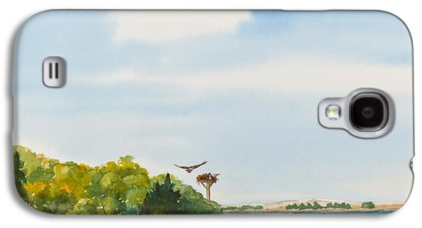 Ospreys On The Vineyard Watercolor Painting Galaxy S4 Case by Michelle Wiarda