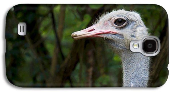 Ostrich Head Galaxy S4 Case by Aged Pixel