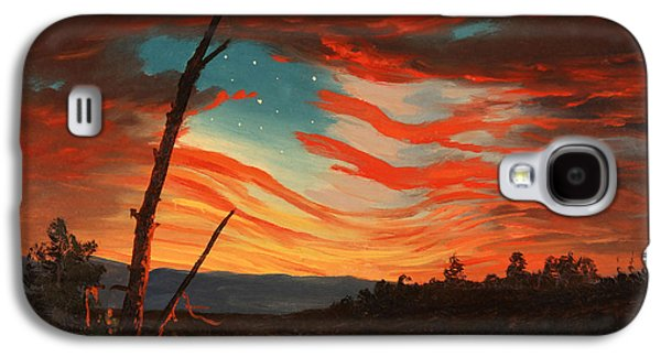 Flag Paintings Galaxy S4 Cases - Our Banner In The Sky Galaxy S4 Case by War Is Hell Store