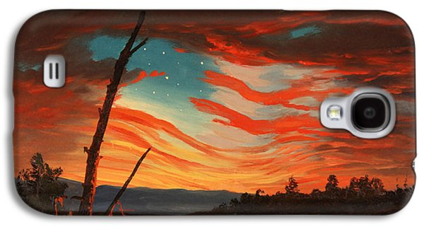 Civil War Galaxy S4 Cases - Our Banner In The Sky Galaxy S4 Case by War Is Hell Store