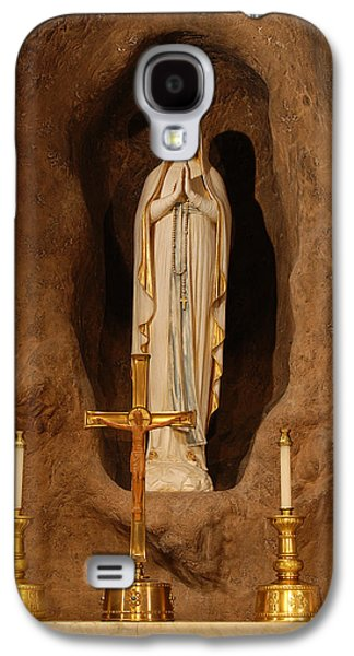 Mother Mary Digital Art Galaxy S4 Cases - Our Lady of Lourdes Galaxy S4 Case by Philip Ralley