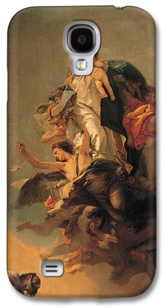 Christ Child Galaxy S4 Cases - Our Lady of Mount Carmel  Galaxy S4 Case by Tiepolo Giambattista