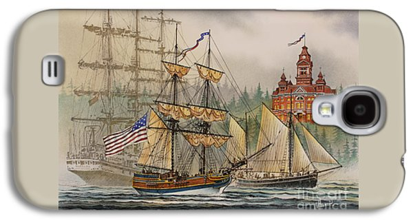 Lady Washington Galaxy S4 Cases - Our Seafaring Heritage Galaxy S4 Case by James Williamson
