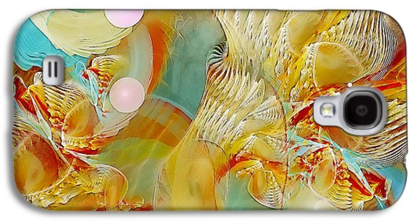 Fractal Pastels Galaxy S4 Cases - Our Souls Expand Galaxy S4 Case by Gayle Odsather