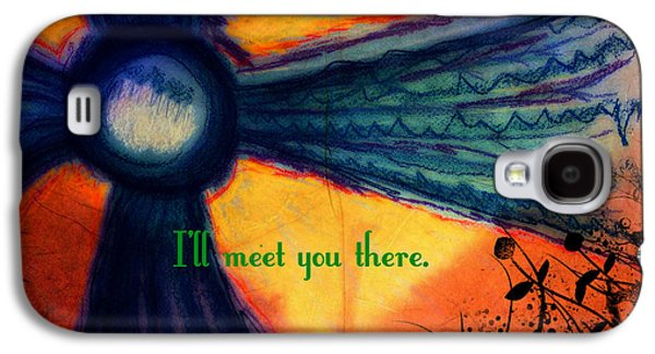 Sunny Mixed Media Galaxy S4 Cases - Out Beyond Ideas Galaxy S4 Case by Catherine McCoy