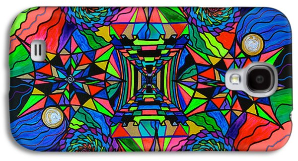 Out Of Body Activation Grid Galaxy S4 Case by Teal Eye  Print Store