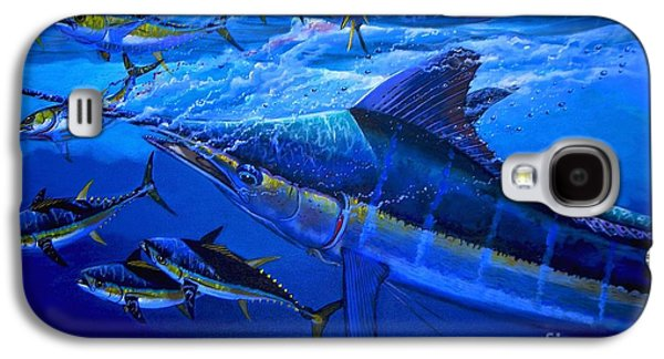 Marlin Galaxy S4 Cases - Out of the blue Galaxy S4 Case by Carey Chen