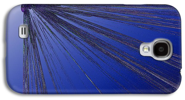 Abstract Digital Art Galaxy S4 Cases - Out of the Blue Galaxy S4 Case by First Star Art