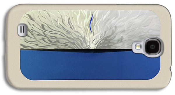 Blue Abstracts Sculptures Galaxy S4 Cases - Out of the Blue Galaxy S4 Case by Rick Roth