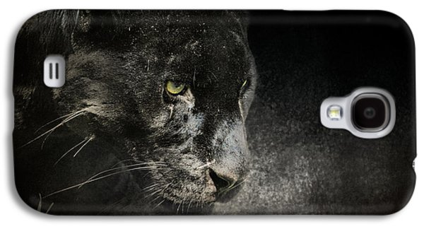 Original Art Photographs Galaxy S4 Cases - Out of the Shadows - Wildlife - Black Leopard Galaxy S4 Case by Jai Johnson