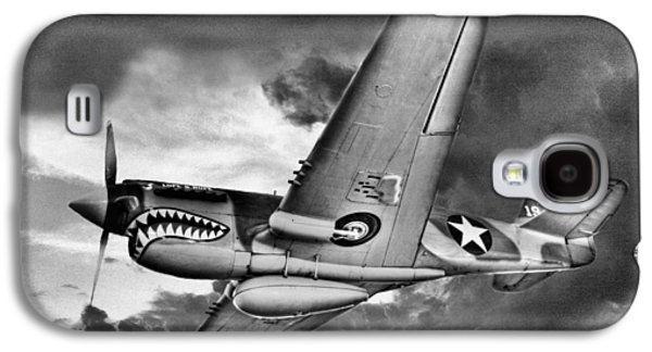P-40 Galaxy S4 Cases - Out of the Storm BW Galaxy S4 Case by JC Findley