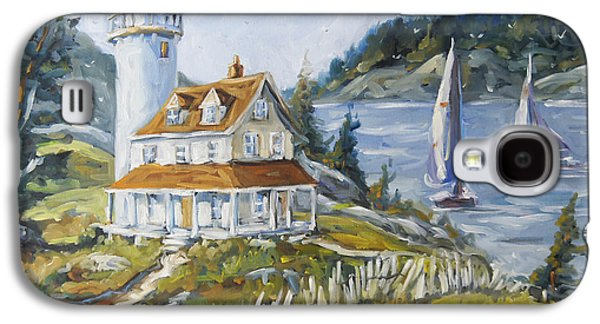 Canadiens Paintings Galaxy S4 Cases - Out to sea by Prankearts Galaxy S4 Case by Richard T Pranke