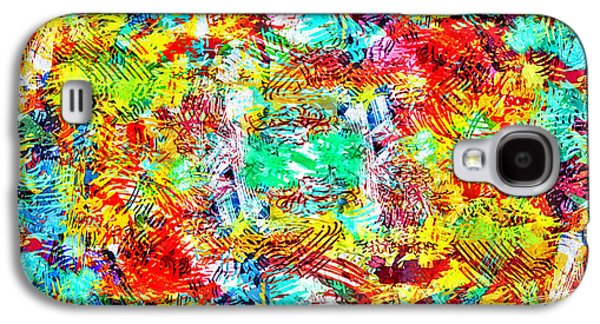Abstract Digital Mixed Media Galaxy S4 Cases - Outburst Galaxy S4 Case by Steven Llorca