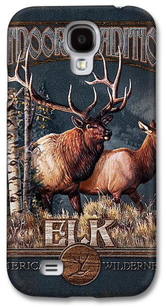 Cynthie Fisher Galaxy S4 Cases - Outdoor Traditions Elk Galaxy S4 Case by JQ Licensing