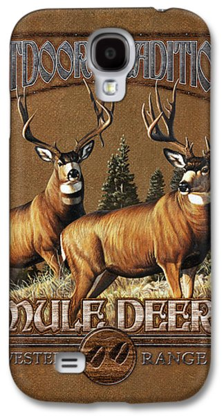 Cynthie Fisher Galaxy S4 Cases - Outdoor Traditions Mule deer Galaxy S4 Case by JQ Licensing