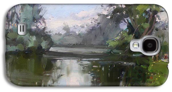 Waterscape Paintings Galaxy S4 Cases - Outdoors at Hyde Park Galaxy S4 Case by Ylli Haruni