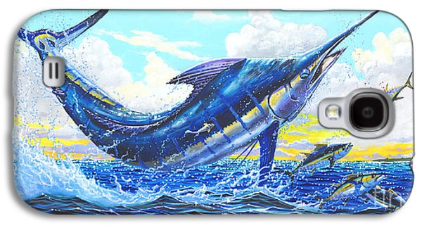 Marlin Azul Galaxy S4 Cases - Outrageous Off00129 Galaxy S4 Case by Carey Chen