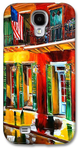 French Quarter Paintings Galaxy S4 Cases - Outside Pat OBriens Bar Galaxy S4 Case by Diane Millsap