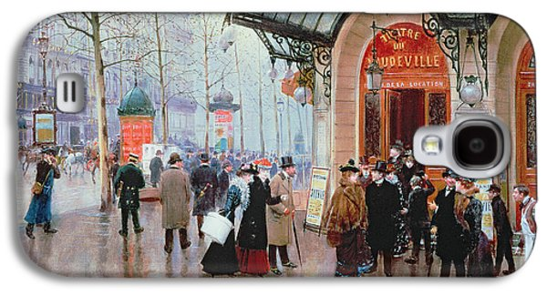 Past Paintings Galaxy S4 Cases - Outside the Vaudeville Theatre Galaxy S4 Case by Jean Beraud