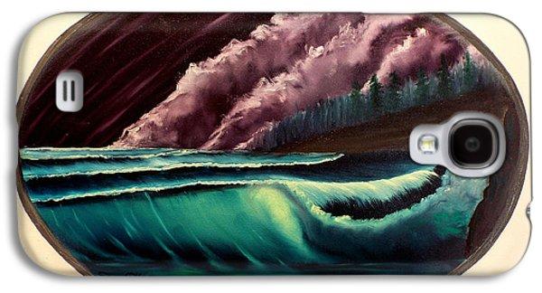 Bob Ross Paintings Galaxy S4 Cases - Oval Ocean View Galaxy S4 Case by Joyce Krenson