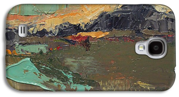 Becky Kim Paintings Galaxy S4 Cases - Over the Mountain Galaxy S4 Case by Becky Kim