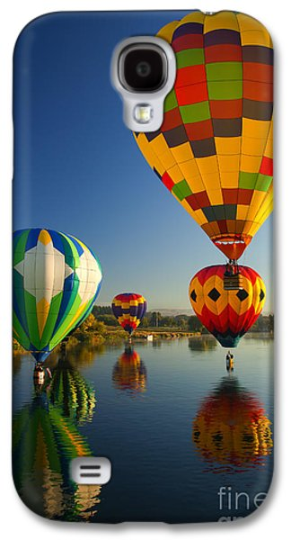 Hot Air Balloon Galaxy S4 Cases - Over the Water Galaxy S4 Case by Mike  Dawson