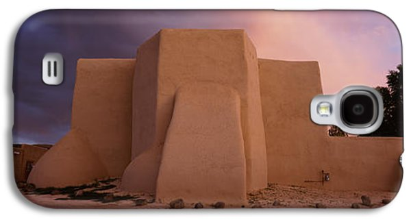 Taos Galaxy S4 Cases - Overcast Clouds Sky Over A Church, San Galaxy S4 Case by Panoramic Images