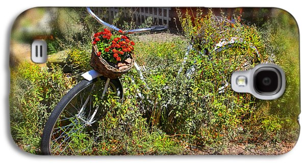 Overgrown Bicycle With Flowers Galaxy S4 Case by Mike McGlothlen