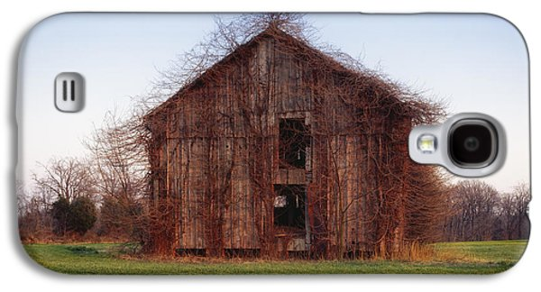 Not In Use Galaxy S4 Cases - Overgrown Brush on Barn Galaxy S4 Case by Mountain Dreams
