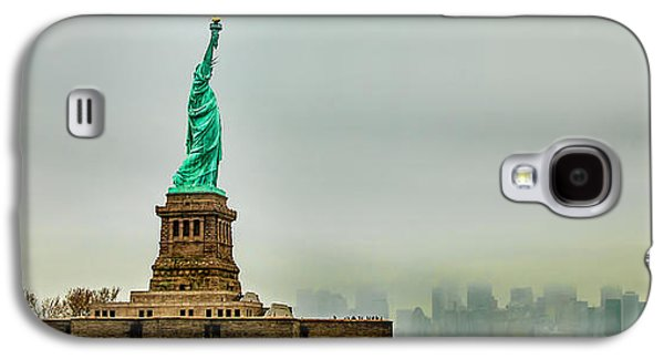 Statue Galaxy S4 Cases - Overlooking Liberty Galaxy S4 Case by Az Jackson