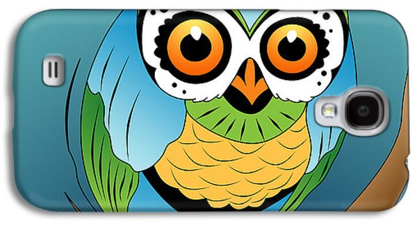Animation Galaxy S4 Cases - Owl 2 Galaxy S4 Case by Mark Ashkenazi