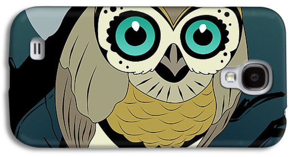 Animation Galaxy S4 Cases - Owl 3 Galaxy S4 Case by Mark Ashkenazi
