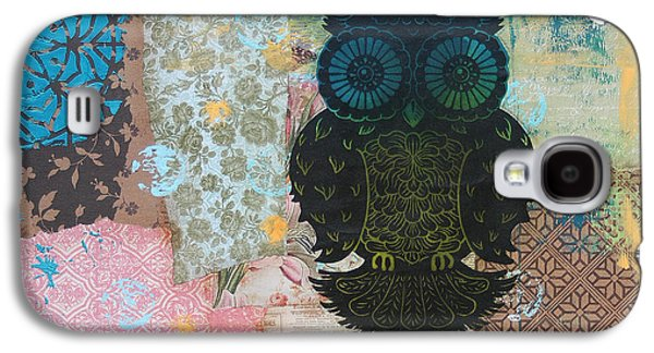 Lino-cut Galaxy S4 Cases - Owl of Style Galaxy S4 Case by Kyle Wood