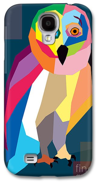 Animation Galaxy S4 Cases - Owl Wpap  Galaxy S4 Case by Mark Ashkenazi