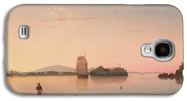 Penobscot Bay Paintings Galaxy S4 Cases - Owls Head Penobscot Bay Maine Galaxy S4 Case by Fitz Henry Lane