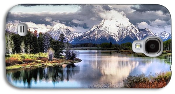 Reflections In River Galaxy S4 Cases - Oxbow Bend Galaxy S4 Case by Dan Sproul