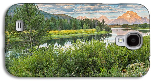 Oxbow Bend Summer Sunrise - Grand Teton National Park Galaxy S4 Case by Andres Leon