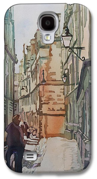 Streetscenes Paintings Galaxy S4 Cases - Oxford Lane Galaxy S4 Case by Jenny Armitage