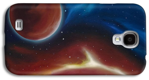 Planet System Paintings Galaxy S4 Cases - Oxytonon Galaxy S4 Case by James Christopher Hill