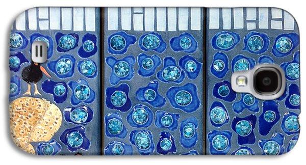Bird Ceramics Galaxy S4 Cases - Oyster Catchers Galaxy S4 Case by Janet Gadallah