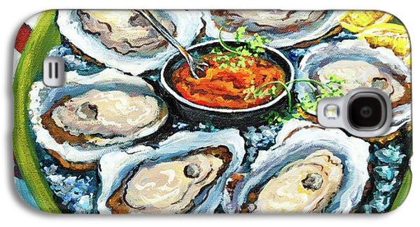 Impressionist Paintings Galaxy S4 Cases - Oysters on the Half Shell Galaxy S4 Case by Dianne Parks